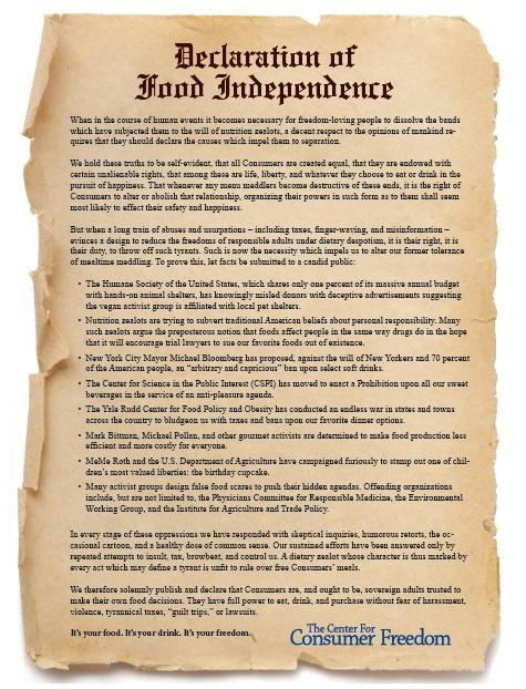 DeclarationofFoodIndependence