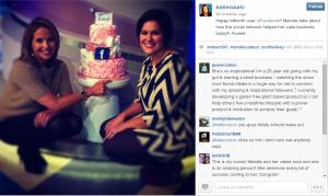 Facebook celebration cake